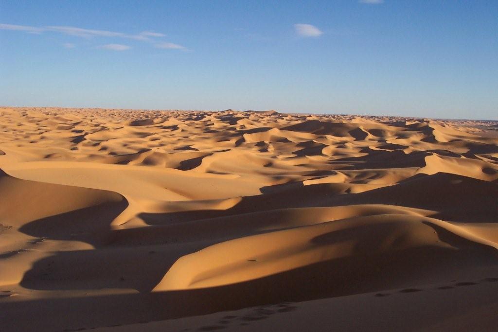 Algerian Sahara desert sands