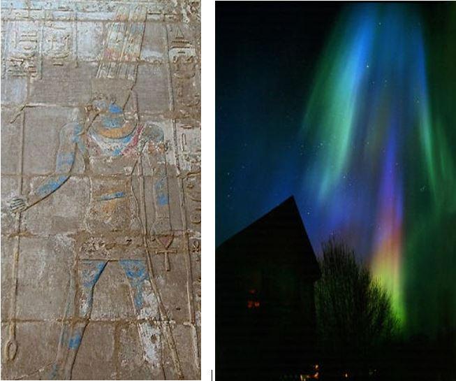 To capare aurora with Amun..
