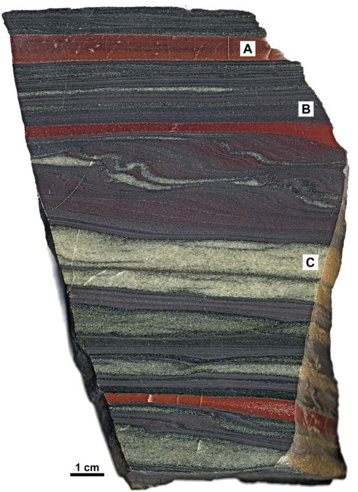 chert layers red iron hematite magnitite