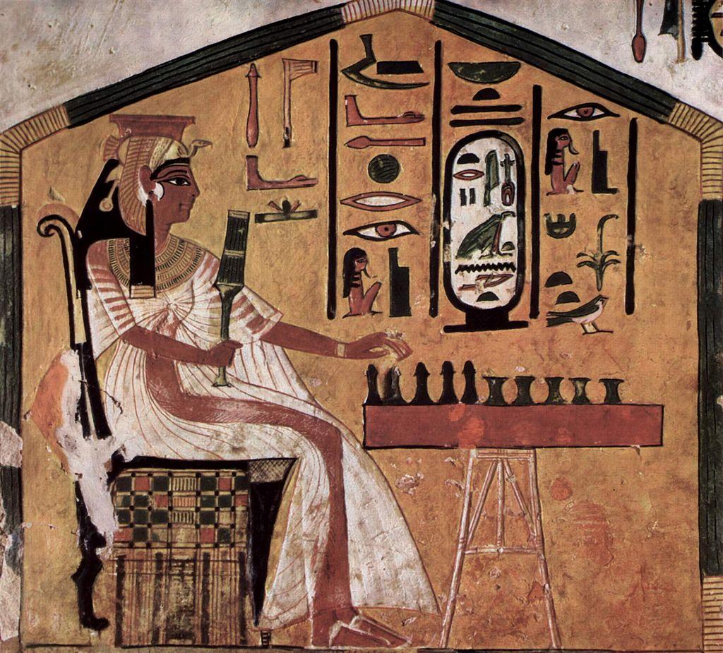 Nefertari playing senet.