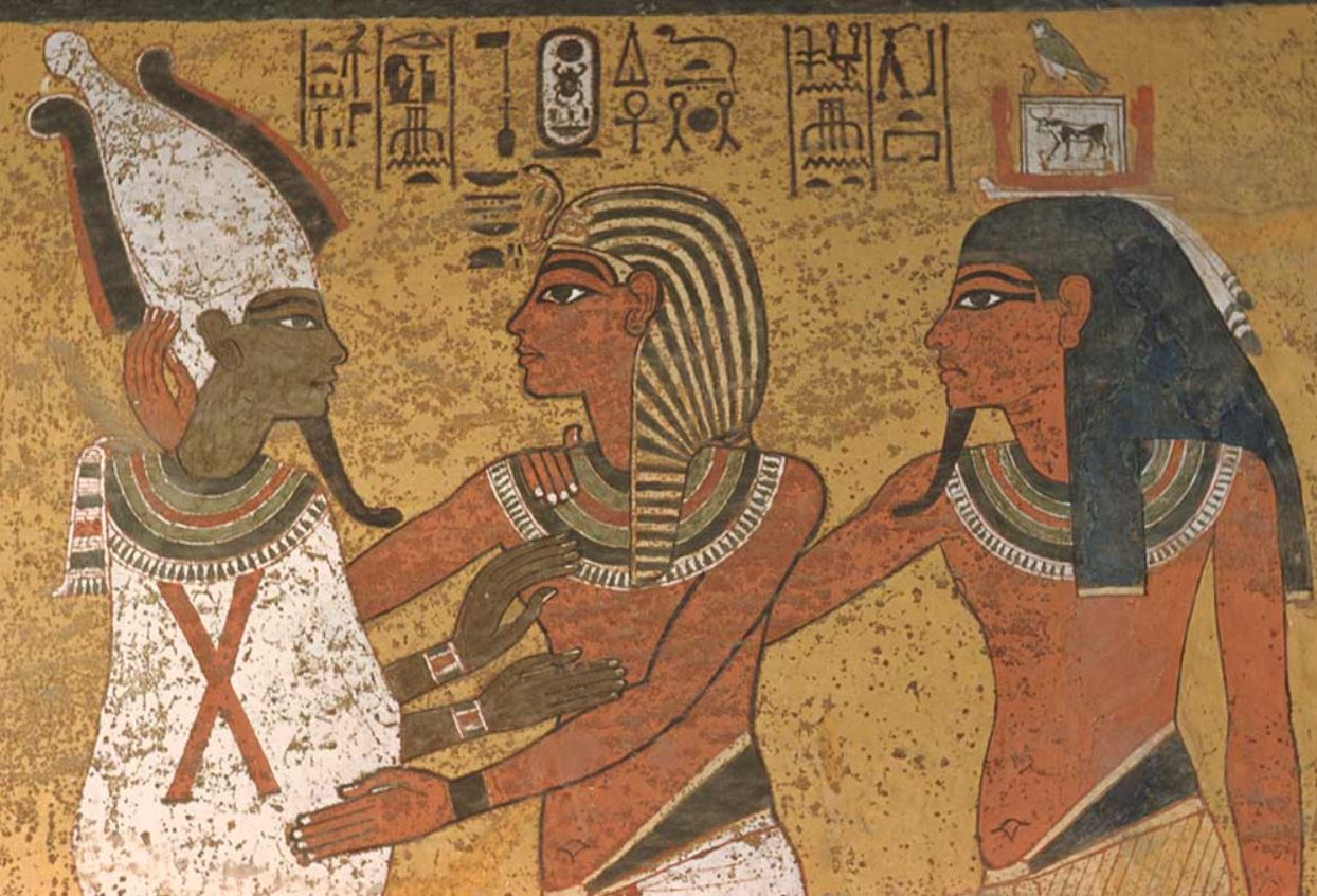 Tutankhamun Osiris embrace