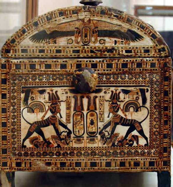 Tutankhamun's painted chest side