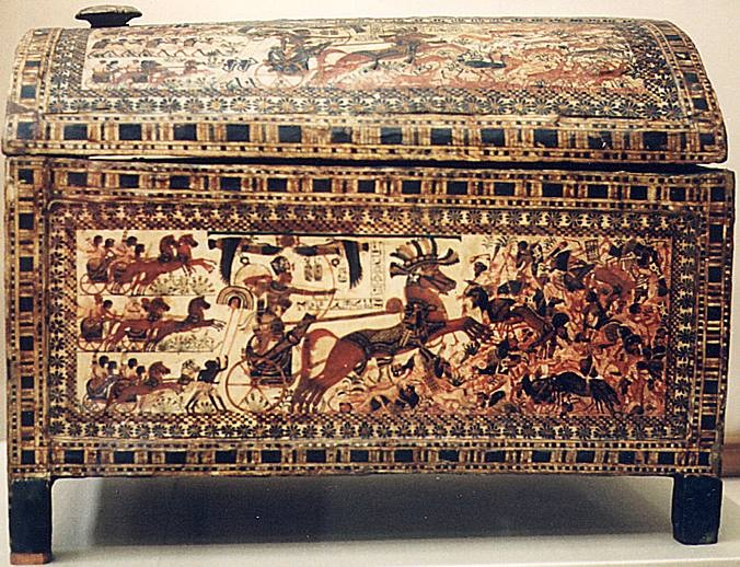 Tutankhamun's painted chest