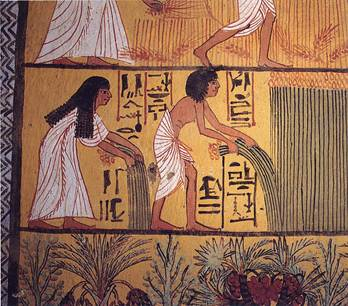 Afterlife Scene Egyptians