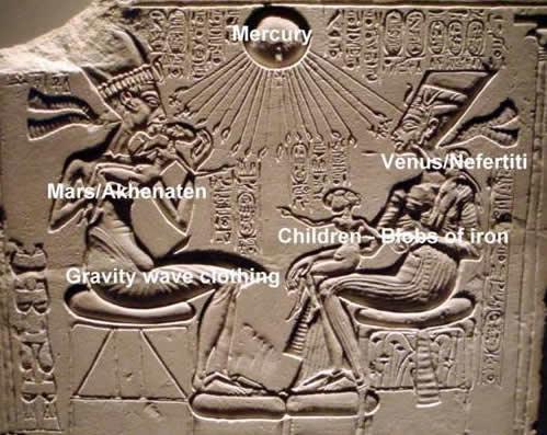 Aten Akhenaten Nefertiti