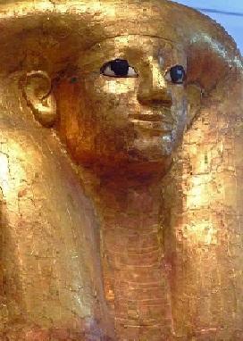 Golden Egyptian Coffin