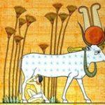 Bovine Hathor suckling Ramses II