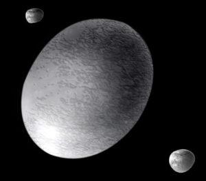 Oval shaped Moon Head warping