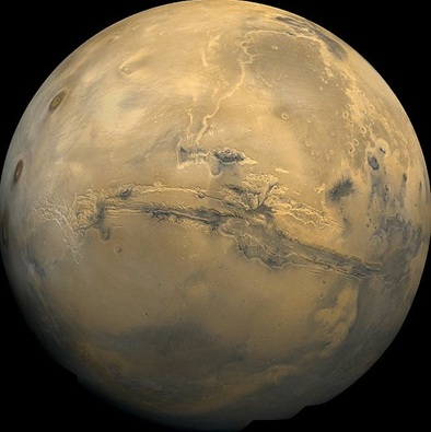 Valles Marineris Mars Mercury